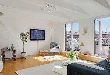 Belo interior de um apartamento de 1 quarto