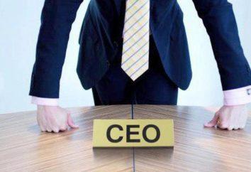 CEO (título): transcrição. Chief Executive Officer: tradução