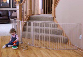 cancello di sicurezza per i bambini, le loro tipologie e caratteristiche