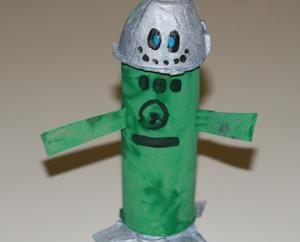 Insegnate ai vostri figli come fare un robot di carta