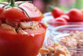 Cómo cocinar tomates rellenos? Receta con queso y ajo