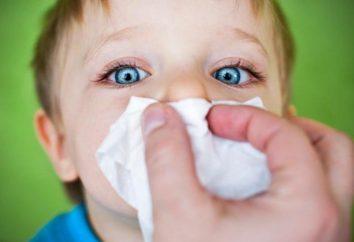 Do que tratar uma rinite em crianças de 2 anos: meios nacionais e medicina tradicional
