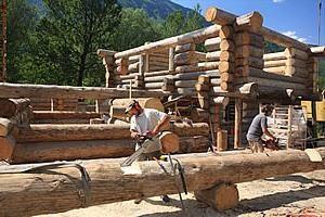 Szlifowanie dzienniki i inne działania na drewnianym domu opieki