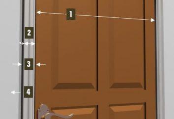 Doorway: la taille et les caractéristiques de la zone d'installation