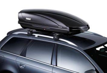 Skrzynki na dachu samochodu. Miękki box na dachu samochodu