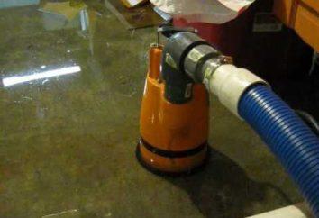 A bomba para bombear a água do porão: uma visão geral, as especificações, seleção