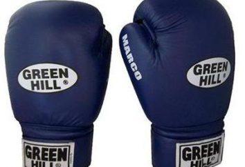 Rękawice bokserskie GREEN HILL: zalety i zakres