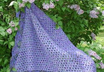 Como tricotar um cachecol de crochê simples? Esquemas para ajudar as mulheres a agulha novatos rapidamente e facilmente fazer o trabalho