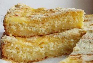 torta di sabbia con crema di formaggio e mele: la ricetta con una foto