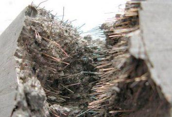 Fibra para el hormigón: variedades, propiedades, aplicaciones