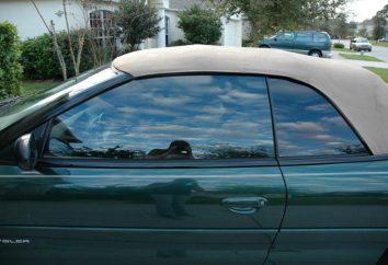 Tipos de carros de tingimento. janelas do carro Colorido: tipos. Tonificação: tipos de filmes