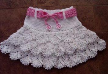 Strickrock für ein Mädchen: Originalmodelle, gehäkelt und gestrickt