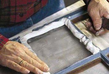 Masilla para ventanas. La producción, extracción y deposición