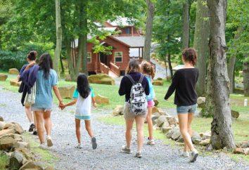 O evento para o acampamento de verão. acampamento de verão para crianças