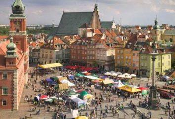 La capitale de la Pologne. L'ancienne capitale de la Pologne