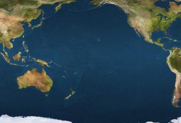 Pacífico: la ubicación geográfica y el área del territorio