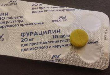 """Mogę oczyścić nos """"furatsilina"""": instrukcje i informacje zwrotne"""