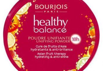 "Pó ""Bourgeois Healthy Balance"": comentários de cosméticos"