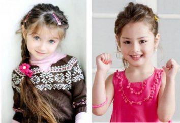 Coiffure sur cheveux longs enfant. Options pour les coiffures de vacances et de tous les jours