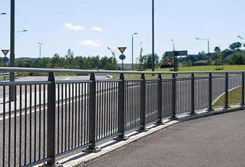 clôture des piétons: les principaux types de constructions