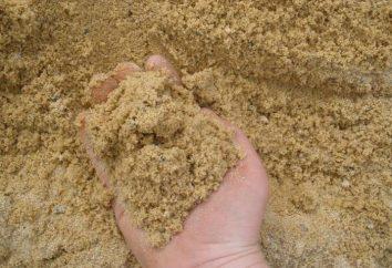 Tipi di sabbia, le loro caratteristiche, la produzione e l'uso di