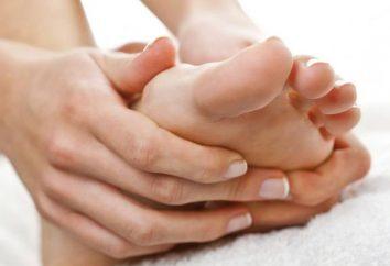 dépôts de sel dans le pied: traitement, causes et symptômes