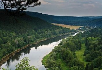 Ufa rivière: rafting, pêche, voyage