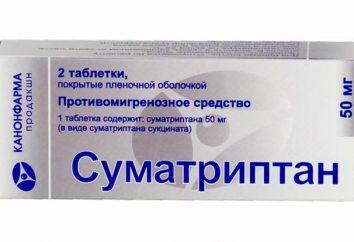 """""""Sumatriptan"""": istruzioni per l'uso, recensioni. analoghi di droga """"Sumatriptan"""""""