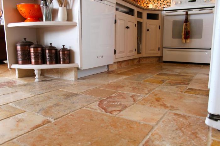 Piastrelle per pavimenti per la cucina e il corridoio efficace e