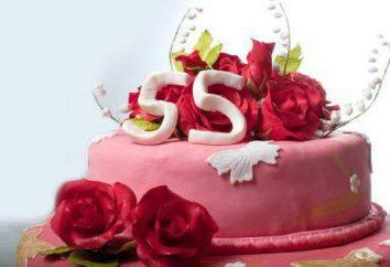 Parabéns colegas do sexo feminino sobre o aniversário de 55 anos: exemplos
