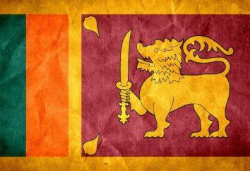 Bandiera dello Sri Lanka. Descrizione, il valore, la storia bandiera