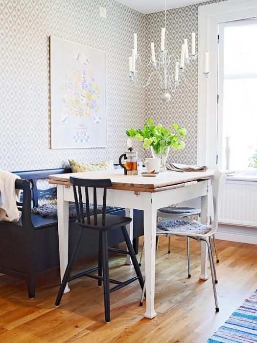 La scelta di mobili. Tavoli da pranzo per le piccole cucine