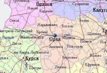 Die russische Stadt Orjol Region