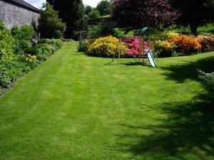 Há um gramado de grama, que não deve ser cortado?