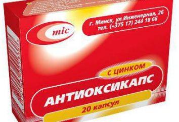 """""""ANTIOXICAPS"""" di zinco – vitamine e medicine"""