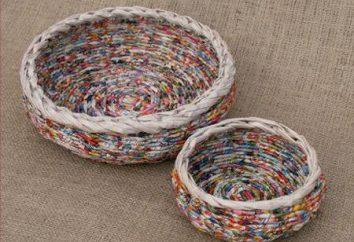 Umiejętność tkania rurki z gazet. master class z Elena Tischenko
