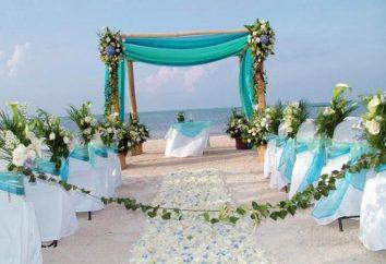 Ślub w kolorze niebieskim: Fotografia wspaniale zdobione wakacje
