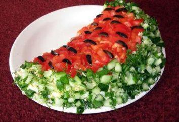 """Sałatka """"Arbuz"""". Jak przygotować sałatkę w postaci arbuza"""