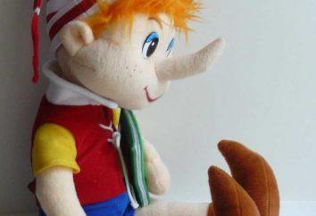 Opis Pinokio lalka. Materiały do składu szkolnego