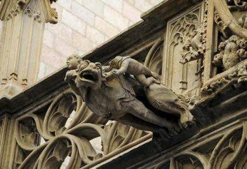 Gargoyle – un elemento di architettura in forma di un serpente drakonovidnoy