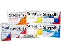 """""""Strepsils"""" środki. Instrukcje użytkowania"""