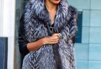 Od czego nosić kamizelkę z lisa? Wydłużone kurtki lisa (foto)