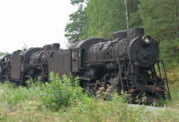Cimetière des locomotives à vapeur, territoire de Perm. L'ancienne technologie ferroviaire inutile
