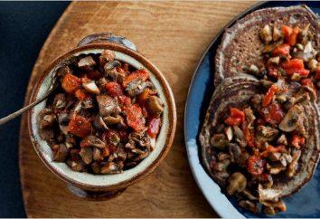 caviar cogumelo com tomates para o inverno: Receita aperitivo