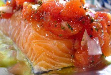 De délicieuses recettes simples et cuire au four: saumon en papillote