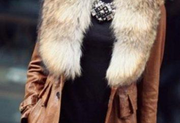 abrigo de cuero con piel – una combinación de dos materiales nobles