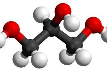 Wzór chemiczny glicerolu. Wzór strukturalny i molekularna