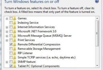 Włącz lub wyłącz funkcje systemu Windows. Przewodnik użytkownika