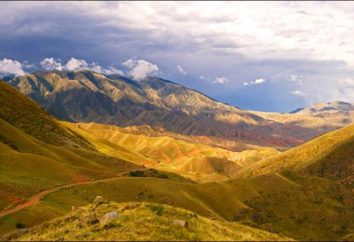 La République du Kazakhstan: les montagnes et la flore et la faune