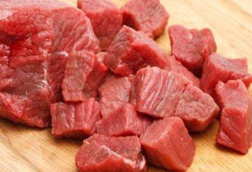 Quantas calorias em carne cozida, frita?